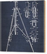 Vintage Tripod Patent Drawing From 1941 Wood Print