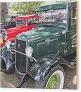 Vintage Truck  Wood Print by Max Lines