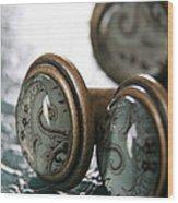 Vintage Turquoise 3 Wood Print