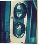 Vintage Twin Lens Reflex Camera Wood Print by Edward Fielding