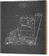 Vintage Typewriter Patent From 1918 Wood Print by Aged Pixel