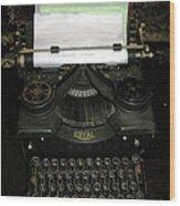 Vintage Typewriter Mechanical Wood Print