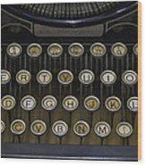 Vintage Typology Wood Print by Heather Applegate