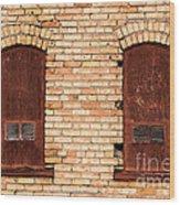 Vintage Urban Brick Building - Salt Lake City Wood Print