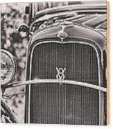 Vintage V8 Wood Print