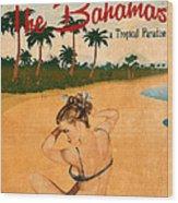 Vintage Vacation Ad Wood Print