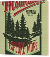 Vintage Vector Of Wilderness And Nature Wood Print
