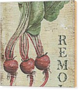 Vintage Vegetables 3 Wood Print