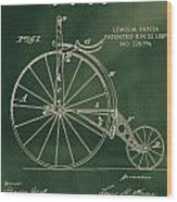 Vintage Velocipede Patent Wood Print