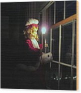 Vintage Victorian Christmas Doll Wood Print