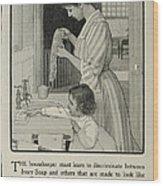 Vintage Victorian Soap Advert Wood Print