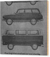 Vintage Volkswagen Ad 1971 Wood Print