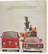 Vintage Volkswagen Camper Van  Wood Print