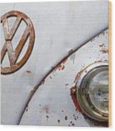Vintage Vw Badge Wood Print