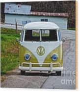 Vintage Volkswagen Bus Wood Print