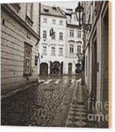 Vintage Walk In Prague Wood Print by John Rizzuto