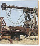 Vintage Water Well Drilling Truck Wood Print