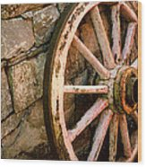 Vintage Wheel Wood Print