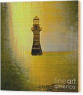 Vintage Whiteford Lighthouse Wood Print