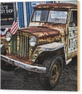 Vintage Willy's Jeep Pickup Truck Wood Print