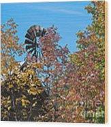 Vintage Wind Power Wood Print