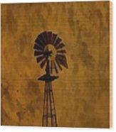 Vintage Windmill  Wood Print