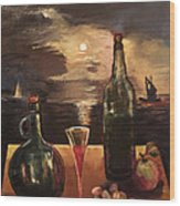 Vintage Wine Wood Print