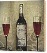 Vintage Wine Lovers Wood Print