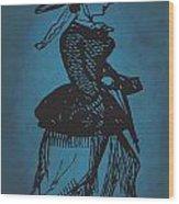 Vintage Women Color Art 1 Wood Print