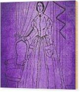 Vintage Women Color Art 16 Wood Print