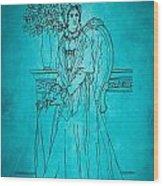 Vintage Women Color Art 22 Wood Print