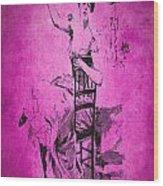 Vintage Women Color Art 55 Wood Print