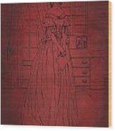 Vintage Women Color Art 7 Wood Print