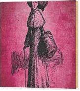 Vintage Women Color Art 72 Wood Print