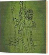 Vintage Women Color Art 74 Wood Print