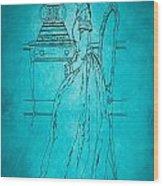 Vintage Women Color Art 84 Wood Print