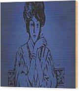 Vintage Women Color Art 86 Wood Print