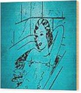 Vintage Women Color Art 89 Wood Print