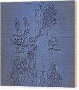 Vintage Women Color Art 91 Wood Print