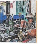Vintage Workshop In Colour Wood Print