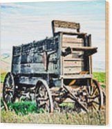 Vintaged Covered Wagon Wood Print