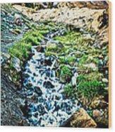 Vintaged Mount Hood Postcard Wood Print