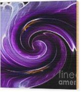 Viola Swirl Wood Print