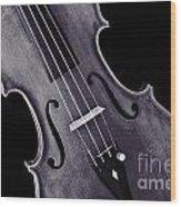 Viola Violin Photograph Strings Bridge In Sepia 3263.01 Wood Print