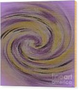 Violet And Yellow In Motion Wood Print
