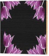 Violet Bells Wood Print