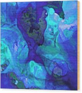 Violet Blue - Abstract Art By Sharon Cummings Wood Print