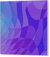 Violet Blue Abstract Wood Print