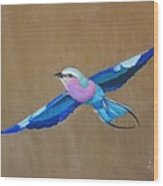 Violet-breasted Roller Bird II Wood Print
