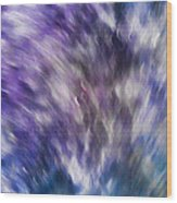 Violet Breeze Wood Print